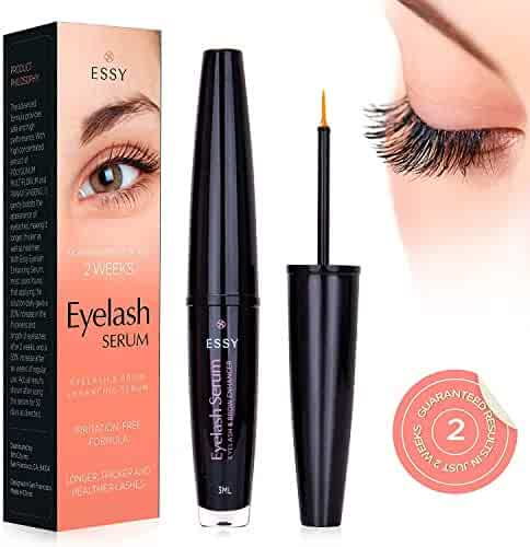 064c91306a7 EssyNaturals Eyelash and Brow Growth Serum Irritation Free Formula -  'Dermatologist Certified' - Guaranteed