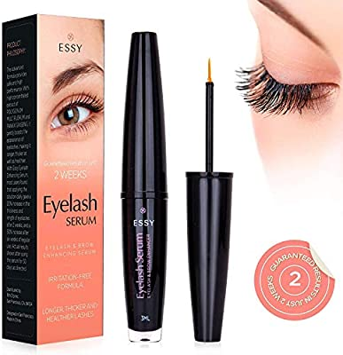 a916b9fe94e EssyNaturals Eyelash Growth Serum for Lash and Brow Irritation Free Formula  (3ML)