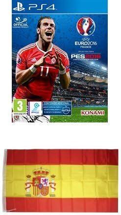 Pro Evolution Soccer (PES) UEFA Euro France 2016 + Bandera España 90x150 cm: Amazon.es: Videojuegos