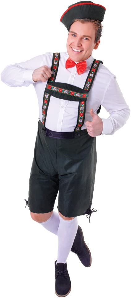 Bristol Novelties - Disfraz de bávaro para hombre, talla UK 38 (AC513-KIT)