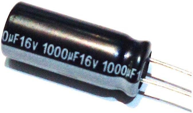 X10 Unidades 1000uf 16v 105/º Condensador electrolitico 8x20
