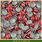 Garment Rivet - 2-6mm Iron on Rapid Rivet for Clothing Bags Shoes Button Snap Fasteners Leather Decorative Craft Flat Back Rivets Clothes - (Color: Red, Size: 2mm 1000gross)