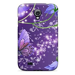 Samsung Galaxy S4 YJE18256VwIw Allow Personal Design Stylish Blue Bells On Purple Pictures Great Hard Phone Covers -JohnPrimeauMaurice