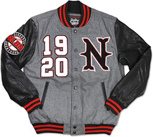 Negro League Baseball Jackets - Cultural Exchange Big Boy Negro League Baseball Mens Varsity Jacket [Grey - 3XL]