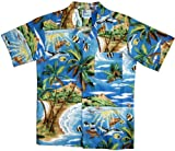 RJC Boys Tropical Fish Island Surf Shirt in Turquoise - 4