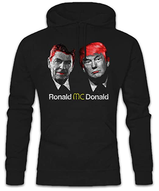 Donald Hoodie- Regan USA Trump President Fast Food America Great Again Anti Culture Stars ...