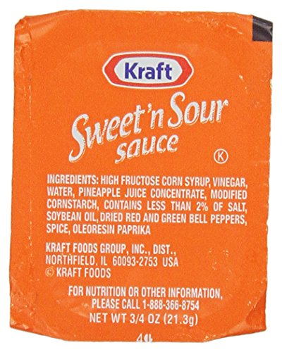 Kraft Sweet & Sour Sauce, 0.75 oz. pack, Pack of 200 - Kraft Sweet