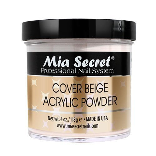 Mia Secret Cover Beige Acrylic Powder 4 oz - Made in USA
