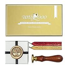 UNIQOOO Arts & Crafts the Tree of Life Wax Seal Stamp Kit, Gift Idea