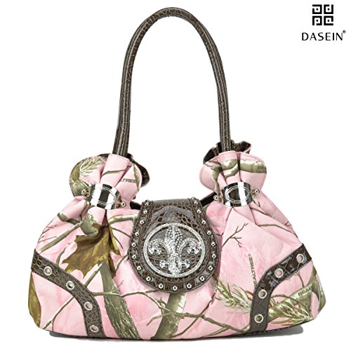 Dasein in Realtree Camouflage Camo Purse Studded Shoulder Bag Handbag with Rhinestone
