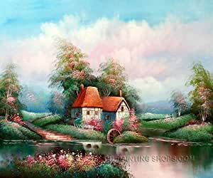 Colorful canvas paintings reproduction for for Oil paintings for sale amazon