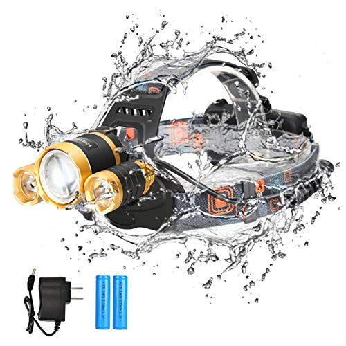 Headlamp Flashlight Rechargeable Rotatable Waterproof