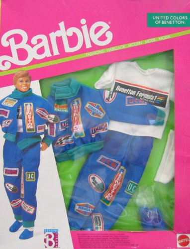 Barbie KEN United Colors of Benetton Fashions RACE CAR DRIVER (1990) by Barbie