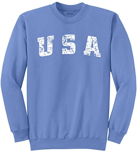 (Vintage USA Logo Crewneck Sweatshirt-Large Carolina )