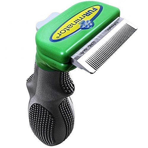 FURminator deShedding Brush For SMALL DOGS With LONG HAIR Tool Comb Up to 20 Lbs With Coats Longer Than 2 Inches