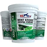 K9 Pro Mint Sticks Dog Dental Chews - 30 Premium Teeth Cleaning Natural Peppermint Chew Treats Dogs Love. Best For Oral Hygiene Care Prevents Bad Breath Reduces Plaque and Tarter Buildup
