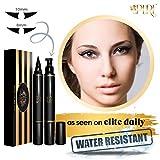 LA PURE Waterproof Eyeliner Stamp - 2 Wingliner Black Make Up Pens, Vamp