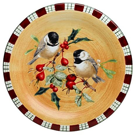 Lenox Winter Greetings Everyday Stoneware Chickadee Salad Plate  sc 1 st  Amazon.com & Amazon.com | Lenox Winter Greetings Everyday Stoneware Chickadee ...