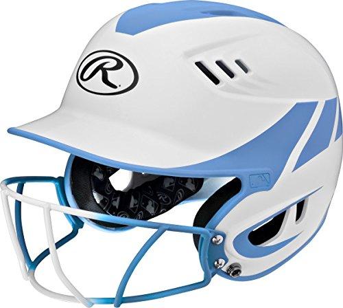 Rawlings Sporting Goods Junior Velo Sized Softball Helmet, White Blue
