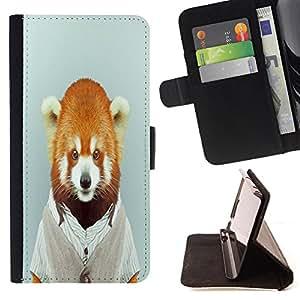 - Animal Head - - Monedero PU titular de la tarjeta de cr?dito de cuero cubierta de la caja de la bolsa FOR Apple Iphone 6 Retro Candy