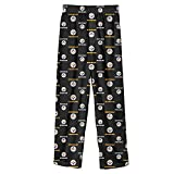 Pittsburgh Steelers Youth Size Medium (10/12) All Over Team Logo Flannel Pajama Pants - PJ's Black