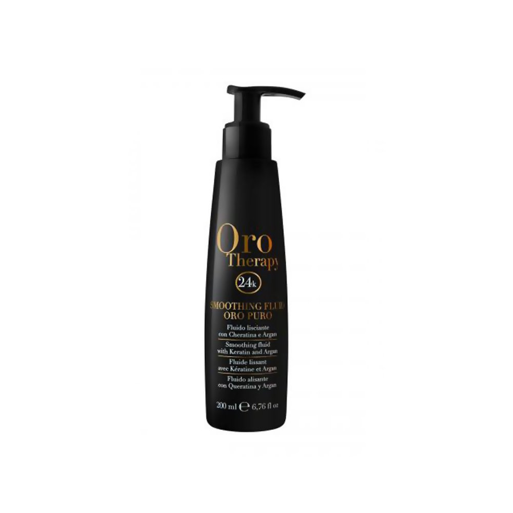 Smoothing Fluid Oro Puro Therapy Styling 200ml 24k ® with Keratin & Argan Fluido Lisciante Fanola 22453