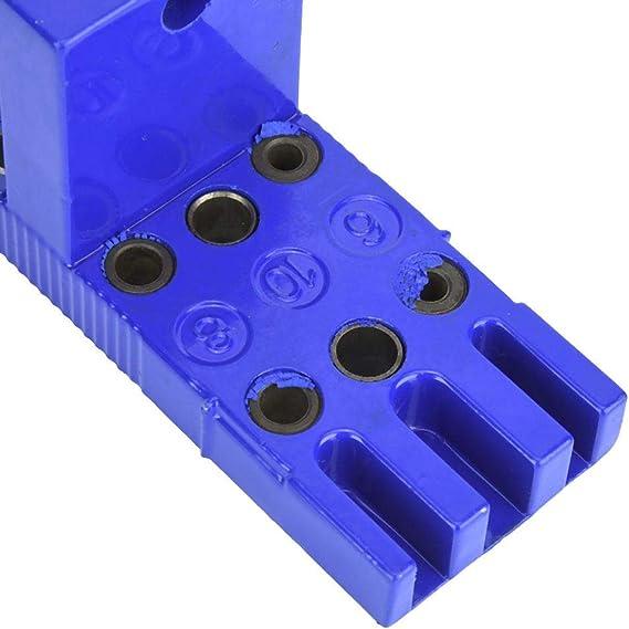 gu/ía de taladro del localizador de puntas de madera Gu/ía manual Posicionador de espigas para carpinter/ía Gu/ía de broca del localizador de punzones