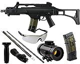 GYD85 Vollautomatisches Sturmgewehr Softair Airgun Gewehr Magazin Zielfernrohr AEG 0,5 Joule