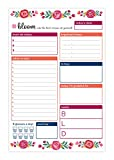 """bloom daily planners 6"""" x 9"""" Planning System To Do Pad - Tear Off Daily Planner - Vintage Floral"""