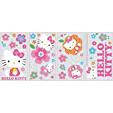 RoomMates RMK2173SCS Hello Kitty-Floral Boutique Peel and Stick Wall Decals