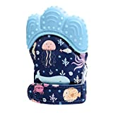 Ladysdress Baby Teething Mittens Self Soothing Pain Relief Mitt Glove Stimulating Teether ToyUnisex for 0-6 Months Baby (Blue)