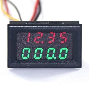 0-10V DC Voltometro 3-Cavi Giallo Digitale LED Mini Display da Pannello Tester
