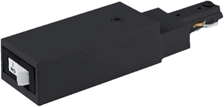 WAC Lighting THL-HLE-1//2A-BK H Live End Connector Current Limiter with Switch Track Accessory WAC Limited
