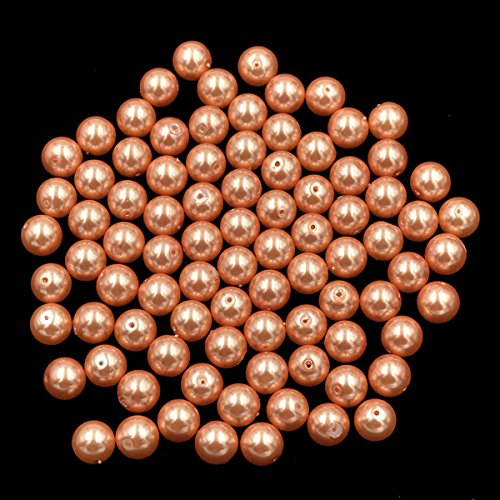 AD Beads Top Quality Czech Glass Pearl Round Loose Beads 3mm 4mm 6mm 8mm 10mm 12mm (6mm (200 Pcs), - Beads 10mm Round Coral