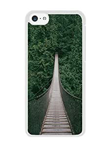 Special Custom Made ponte natural White Phone Case For iPhone 5c Cover Case
