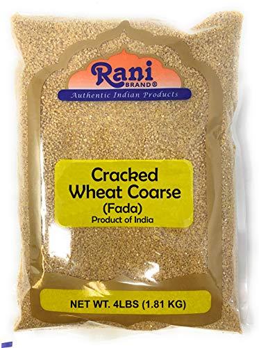 Rani Cracked Wheat Coarse (Fada / Commonly called Bulgur #2) 4lb (64oz)~ All Natural | Vegan | No Colors | NON-GMO | Indian Origin (Wheat Flour Cracked)