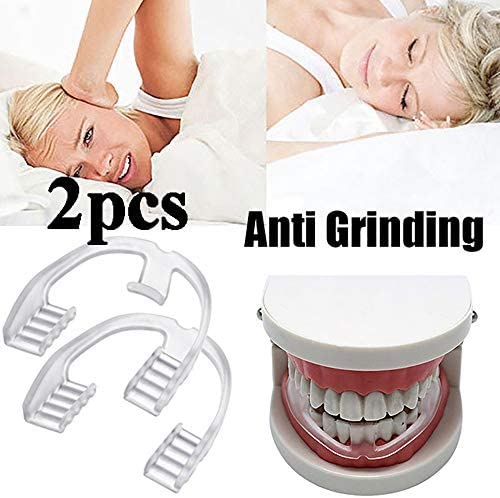 WLKK 2 STÜCKE Lebensmittelqualität Schlafmittel Werkzeug Bruxismus Schiene Eliminierende Zahnknirschen Mundpflege Zahnspange Zahngesundheit Zahnschutz