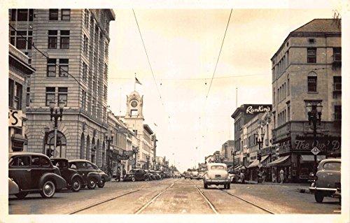 Downtown Street Postcard - Real Photo Postcard Downtown Street Scene in Santa Ana, California~116282