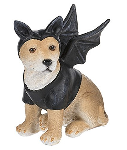 Costume Canine Dog Halloween Polystone 5 Inch Tabletop Figurine, Batdog Shiba Inu - Father And Daughter Costume Ideas