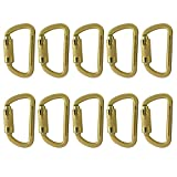 Fusion Climb Mayan Steel Auto Lock Key Nose High Strength Captive Eye Carabiner 10-Pack