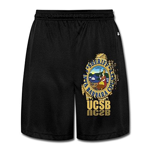 ZZYY Mens Soft University Of California-Santa Barbara Short Sweatpants Dance Black Size - Entourage Barbara