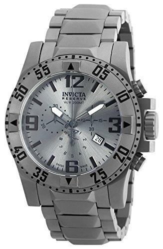 Invicta Men's Excursion Quartz Titanium Casual Watch, Color:Silver-Toned (Model: 90154) - Excursion Chronograph