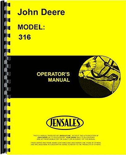 John Deere 316 Lawn & Garden Tractor Owner Operators Manual s/n 80001-95000