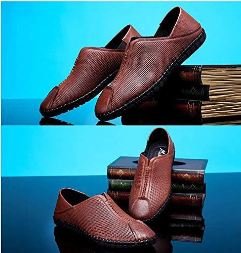 9 de Marrón Zapatos Suela Cuero MARRÓN Blanda Color UK Slip 8 On sutura Tamaño para Color Zapatos Hombres 5 HhGold US para 8 de Hombre Claro US de Marrón tamaño UK Ocasionales 5 cómodos 7 Claro R4dqx7w