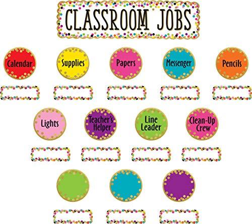 Confetti Classroom Jobs Mini Bulletin Board ()
