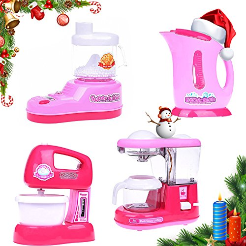 Kitchen Cooking Play Toys Sets for Kids (Pink) - 2