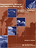 Mathematical Modeling in the Environment Teachers Book, Hadlock, Charles, 0883857138