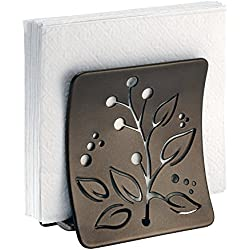 mDesign Leaf Napkin Holder for Kitchen Countertops, Table - Bronze
