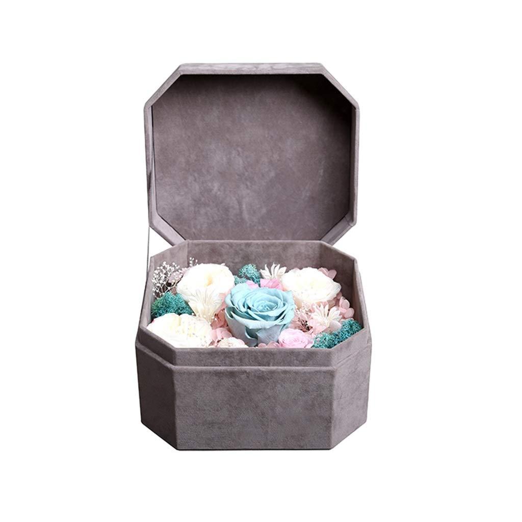 NKDK 永遠の花のボックスローズ永遠の花の組み合わせは、愛する人の人の女神の日のギフトを送信する - 造花 3635 (Color : B) B07SX2VK3F B
