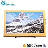 Kenowa 11.6 inch thickness is 25mm high resolution 19201082 display, AV/VGA/HDMI input, portable TFT LCD screen display screen, touch button, built-in speaker, for security camera.